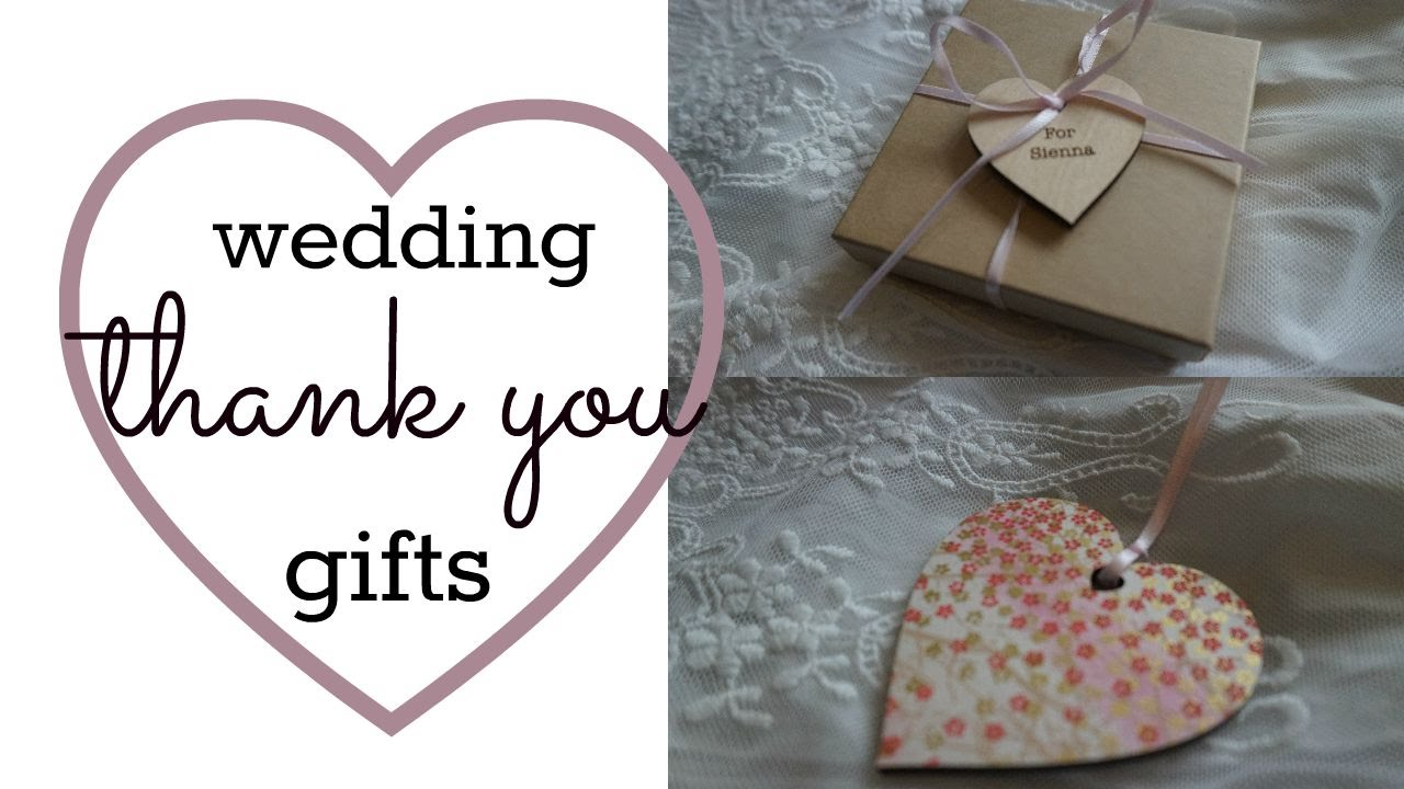 Wedding Gift Ideas Youtube : Wedding Thank You Gifts Jessica AveyYouTube