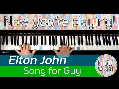 How to play Song for Guy | Elton John | On Piano - Lesson 1