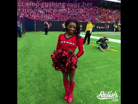 Simone Biles Joined The Texans Cheer Squad