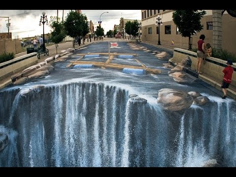 20 dessins 3d de rue incroyables youtube for Dessin 3d