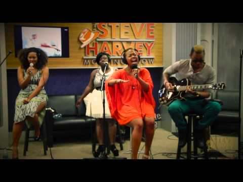 "Chrisette Michele Performs ""Love Won't Leave Me Out"" Live On The Steve Harvey Morning Show"