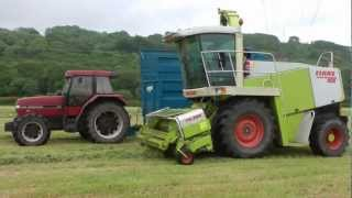 Silaging with Claas.