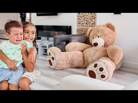 HUGE TEDDY BEAR PRANK ON STEEL BOY!!!