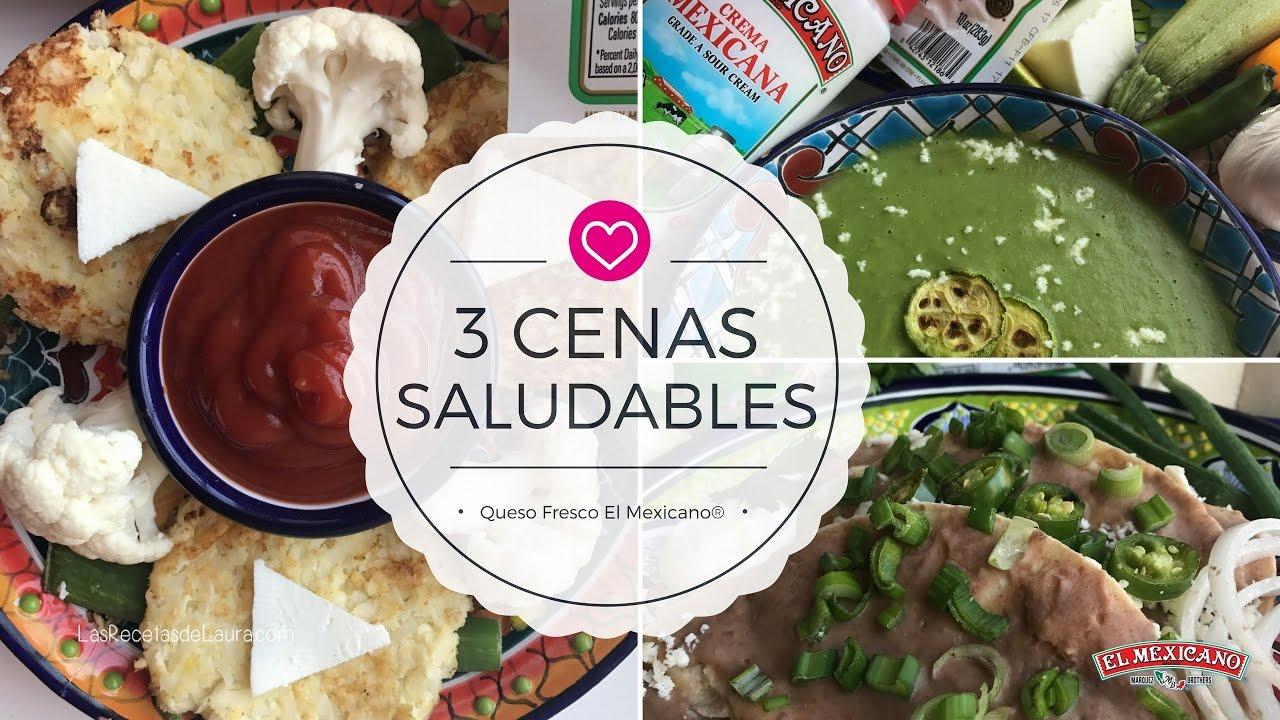 3 cenas saludables para la dieta las recetas de laura youtube - Ideas cenas saludables ...