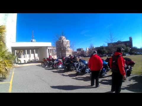MLK Escort 2015e Arriving At Macon, GA City Hall