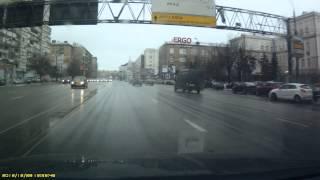 Светофор, мигающий жёлтый, опасно (HD)