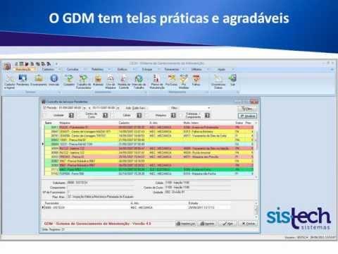 Apresentação GDM - Sistema de Gerenciamento de Manutenção (Sistech Sistemas)
