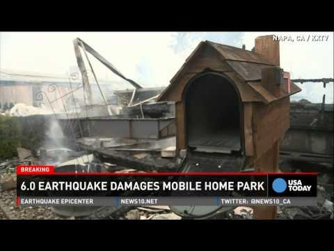 Napa earthquake sounded like 'a plane crash'