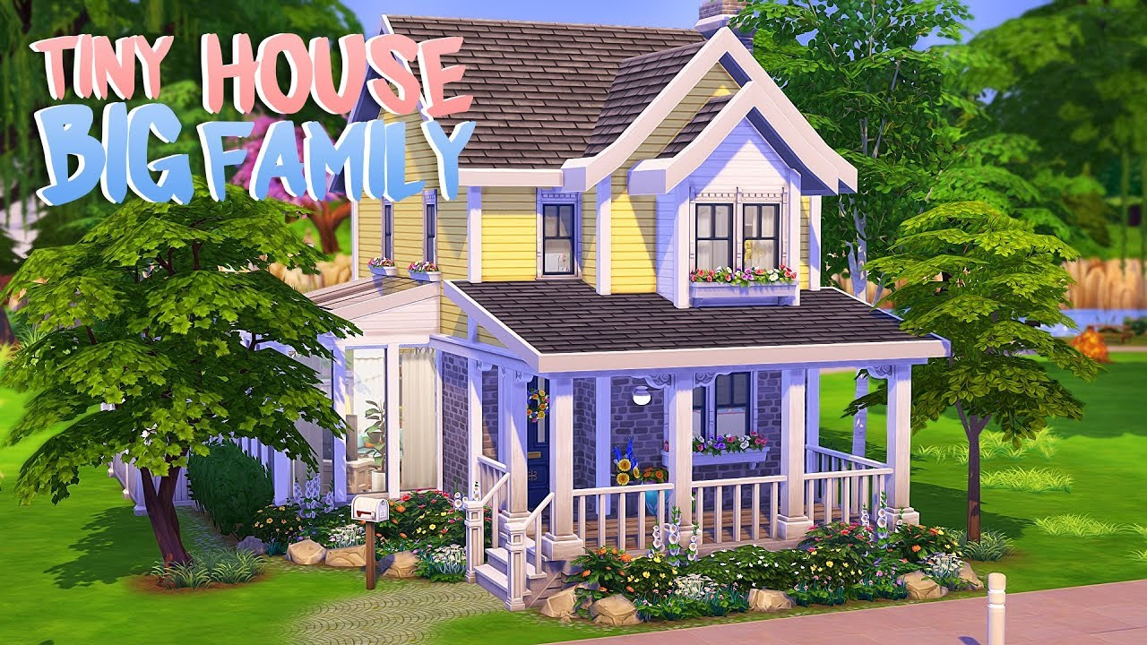 Tiny House For A Big Family The Sims 4 Speed Build
