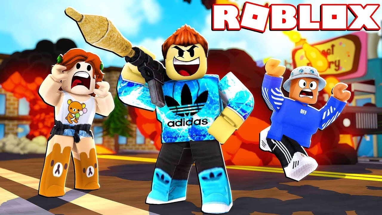 BLOWING UP 1000 PEOPLE IN ROBLOX!! ( ROCKET BATTLE SIMULATOR )