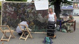 Акценти.  Маскувальну сітку в центрі Вінниці плетуть зі співами(, 2016-07-29T14:43:21.000Z)