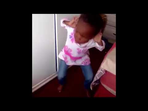 Cute Little Girl Dancing To African Music