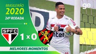 SÃO PAULO 1 X 0 SPORT | MELHORES MOMENTOS | 24ª RODADA BRASILEIRÃO 2020 | ge.globo