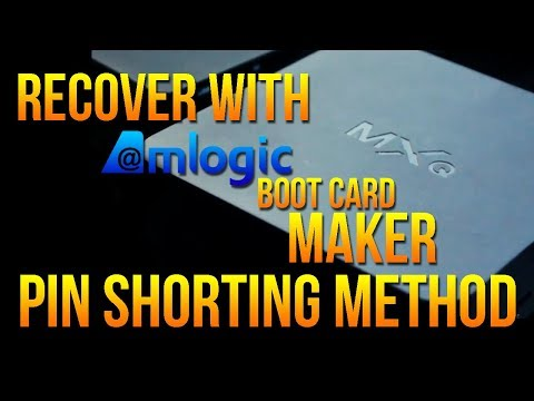 Burn Card Maker: Recover Totally DEAD Amlogic Android TV Boxes - Short Pin Method