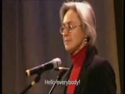 VLADIMER  PUTINS 1999-2006 WAR CRIMES - №6 Anya Politkovskay
