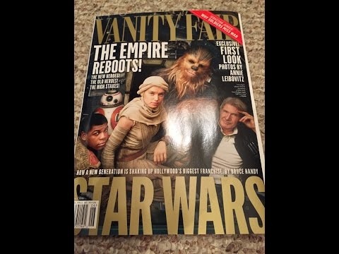 VANITY FAIR STAR WARS FORCE AWAKENS MAGAZINE REVIEW JUNE 2015
