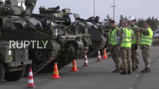 Estonia  British battle tanks arrive in Paldiski as NATO expands in E  Europe