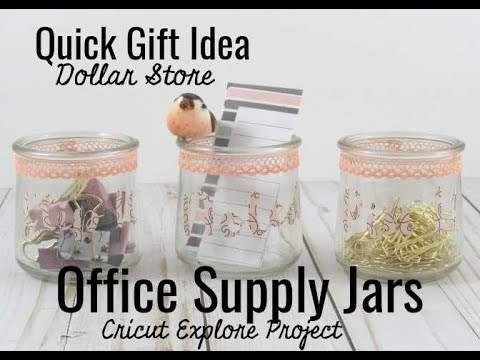 Quick DIY Gift: Dollar Store Office Supply Jars - Blowing