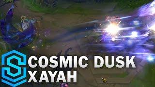 cosmic dusk xayah skin spotlight pre release league of legends