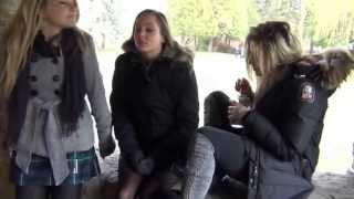 Teenage Girls Getting Drunk In The Park