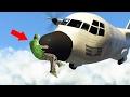TITAN PLANES vs. RUNNERS! (GTA 5 Funny Moments)