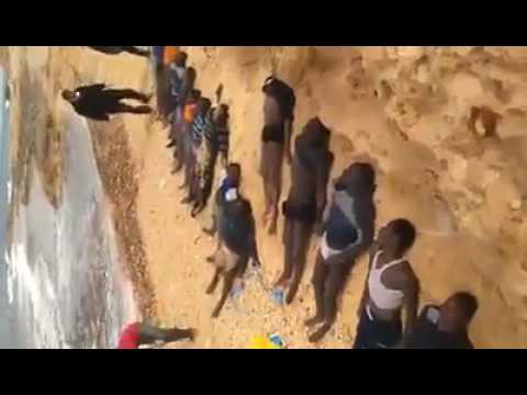 45 African immigrants drowned off Libya's western shore