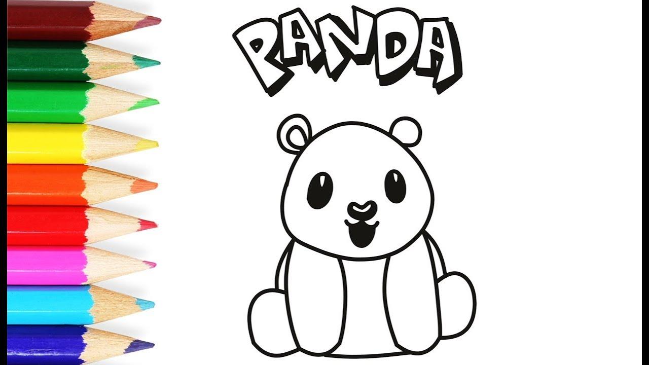 Menggambar Panda 🐼 L Mewarnai Gambar Kartun Panda Untuk