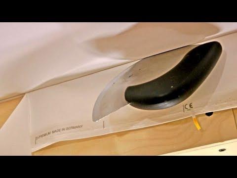Натяжка тканевого потолка DESCOR / Натяжной потолок своими руками