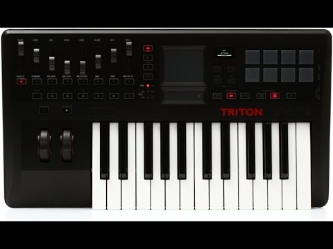 AR: KORG TRITON TACTILE 25 (FLIPPING THROUGH KAOSS WITH REAPER)