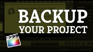 Final Cut Pro X: Backup a Project on an External Drive(Learn how to move a project from one drive to another in Final Cut Pro X. Learning this will enable you to backup or move your projects to an external drive so ..., 2015-01-09T19:09:36.000Z)