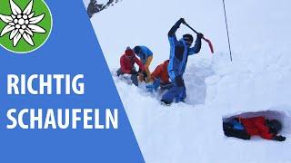 Richtig Schaufeln | SicherAmBerg Skitouren