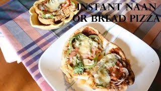 Instant Naan/bread Veg +cheese Pizza