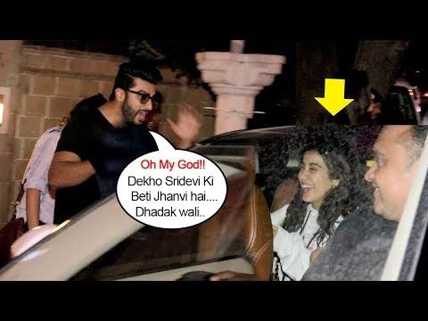 Arjun Kapoor's Cute Moment Doing MASTI & Showing LOVE For Sridevi's Daughter Jhanvi Kapoor Publicly