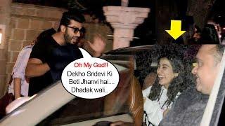 Video Arjun Kapoor's Cute Moment Doing MASTI & Showing LOVE For Sridevi's Daughter Jhanvi Kapoor Publicly download MP3, 3GP, MP4, WEBM, AVI, FLV Agustus 2018