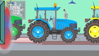 ,Learn Colors With Tractor - Cartoon Animation for Children and Babies | Traktory Kolorowe