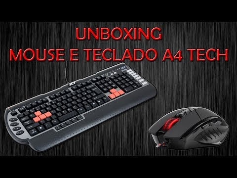 Unboxing - Mouse A4Tech X7 Bloody V7 3200dpi e Teclado A4 Tech G800V