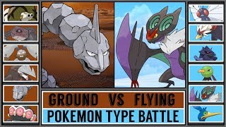 GROUND vs FLYING - Pokémon Type Battle