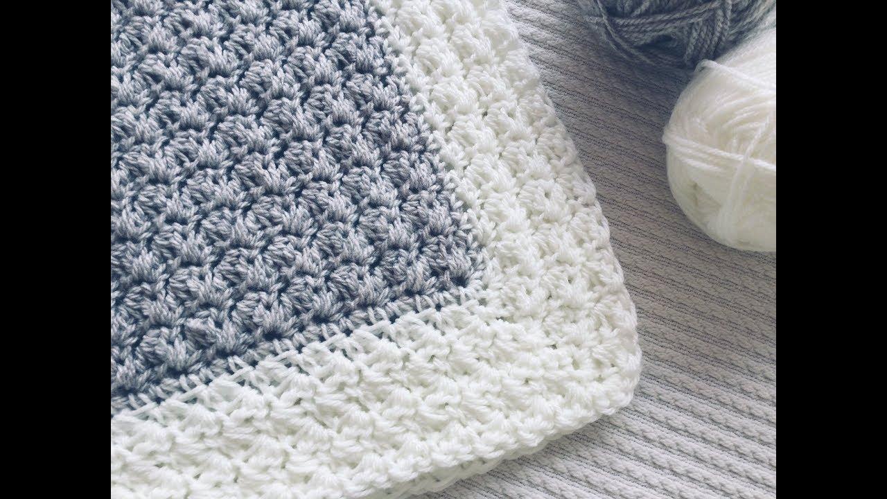 Colcha Tejida A Crochet Para Bebé Paso A Paso Y Fácil Youtube