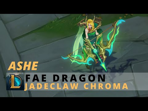 Fae Dragon Ashe Jadeclaw Chroma - League Of Legends