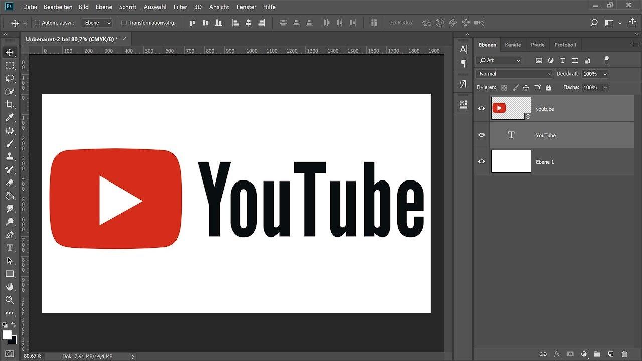 Logo Erstellen Photoshop Tutorial Youtube