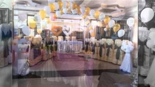 Оформление свадьбы воздушными шарами и тканью Decoration of wedding balloons and cloth