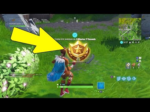 Fortnite Search Between A Giant Rock Man A Crowned Tomato And An Encircled Tree | Week 5 Challenges