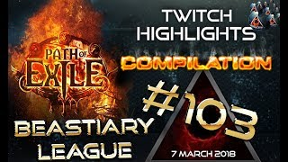 Path of Exile highlights - 1 Fuse 6links, Zizaran Rip, RaizQT Rip, Nugi Rip, RNG Close calls #103