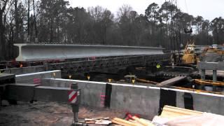Fenholloway River Bridge Beam Setting (2 crane pick)