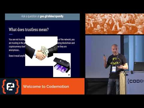 Blockchain and smart contracts (...) - Stefano Maestri - Codemotion Milan 2017