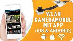 Spionagekamera Module mit App weltweit WLAN Zugriff IP Mini Spion Kamera