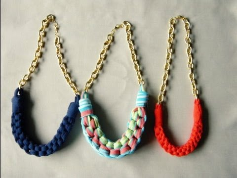 Diy Collar Con Tela Youtube