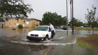 Gentilly Street Flooding, August 5, 2017 in New Orleans