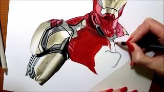 Drawing IRON MAN - Avengers: Endgame Suit