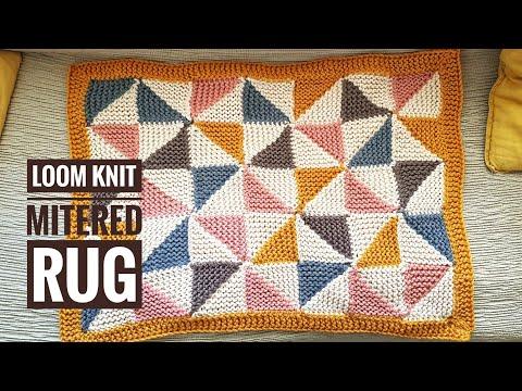 How To Loom Knit A Pinwheel Rug Or Blanket  [No Sewing] (DIY Tutorial)